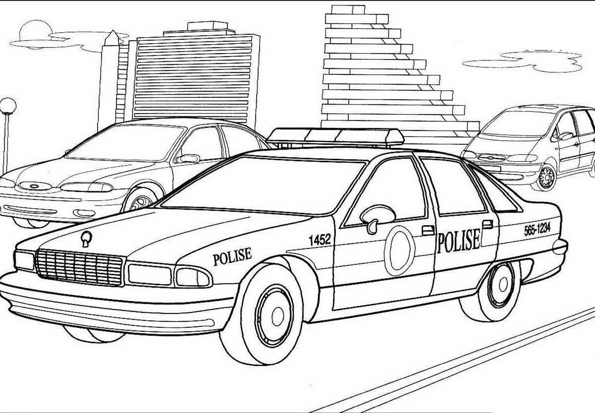 Tranh tô màu ô tô trên đường phố