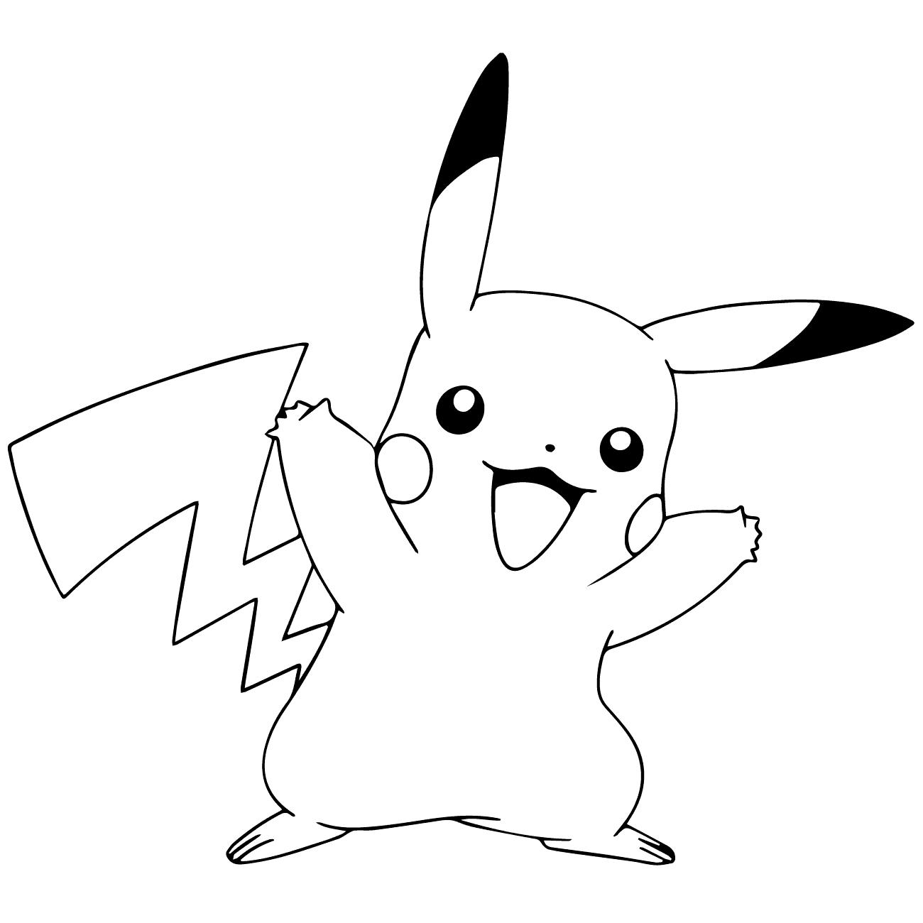 Bé tô màu pikachu