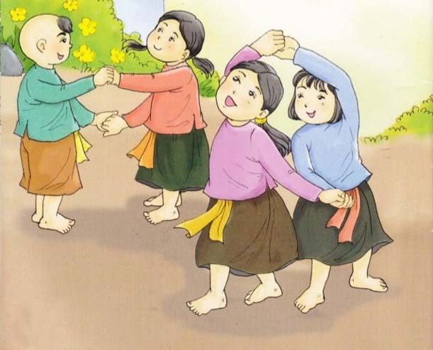 Bức tranh vẽ đề tài trò chơi dân gian