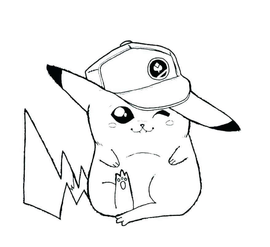 Hình pikachu cho bé tập tô