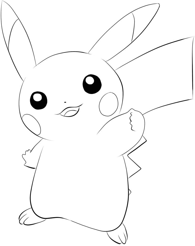 Hình pikachu cho bé tô màu