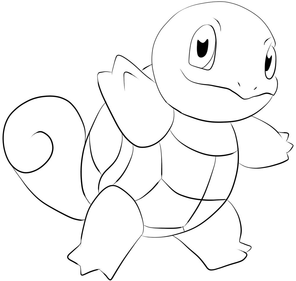 Hình pokemon cho bé tập tô màu