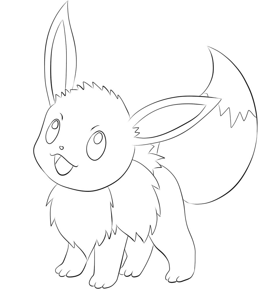 Hình pokemon đen trắng cho bé tập tô màu