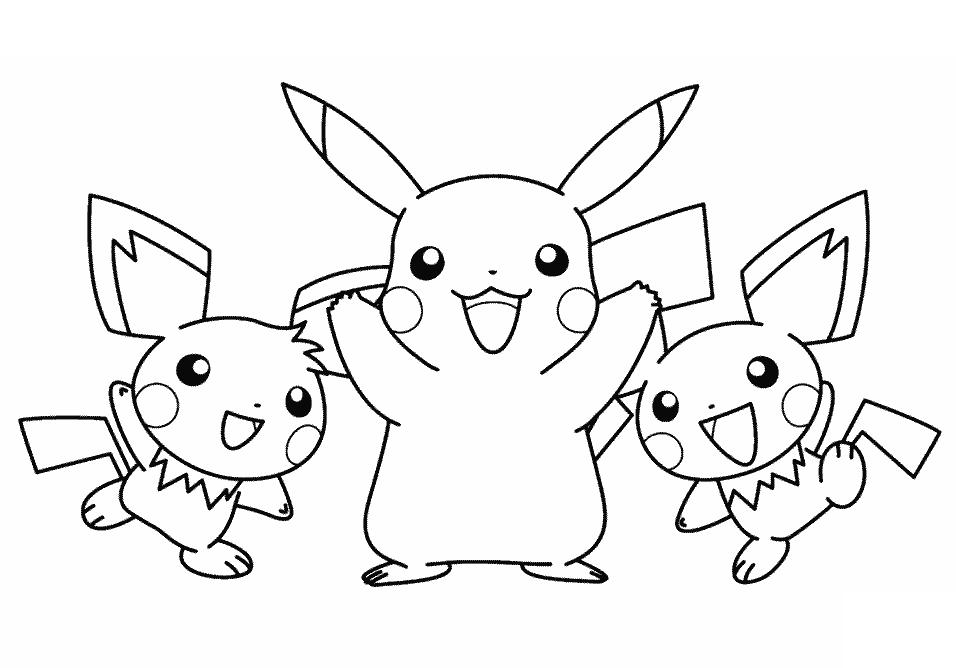 Hình pokemon đẹp cho bé tập tô