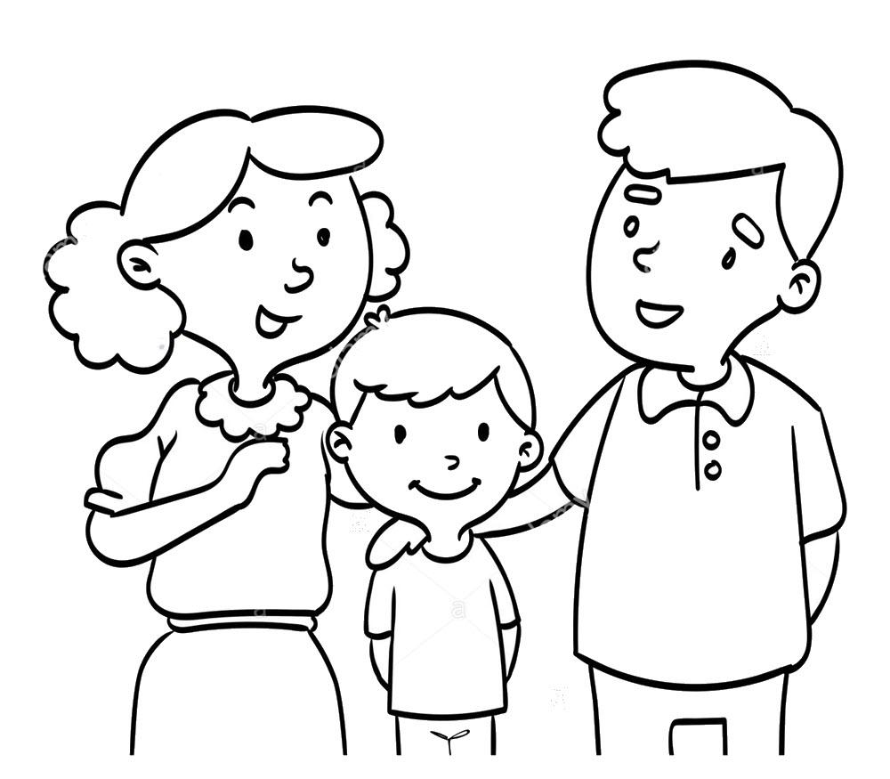 Hình tập tô gia đình cho bé