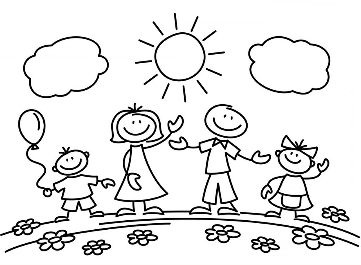 Hình tập tô gia đình hoạt hình vui vẻ