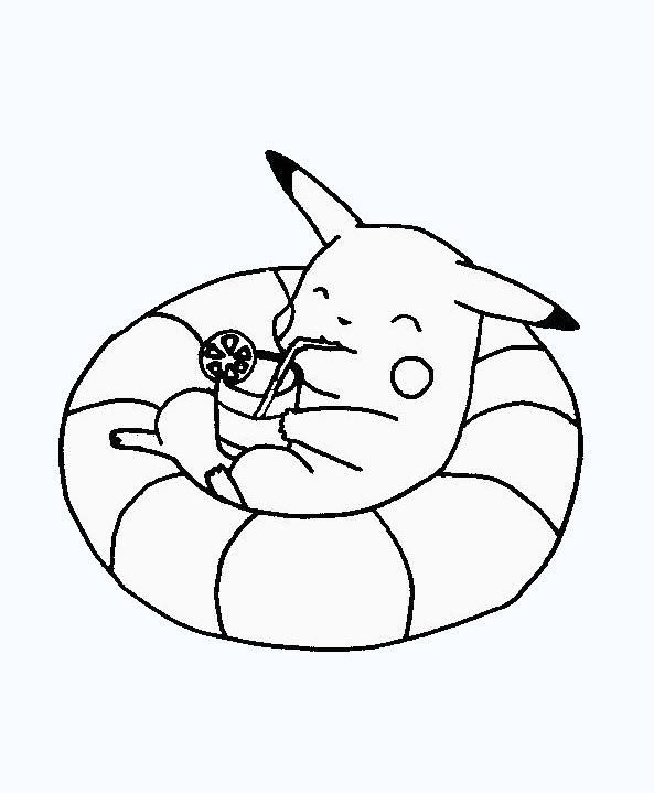 Hình tập tô màu pikachu đáng yêu cho bé