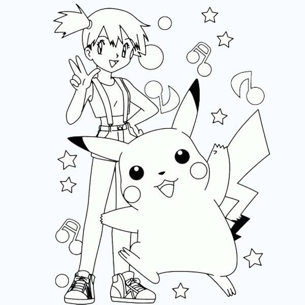 Hình tập tô màu pikachu