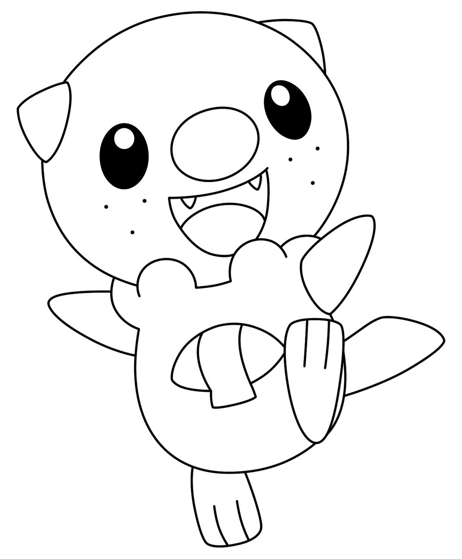 Hình tập tô màu pokemon