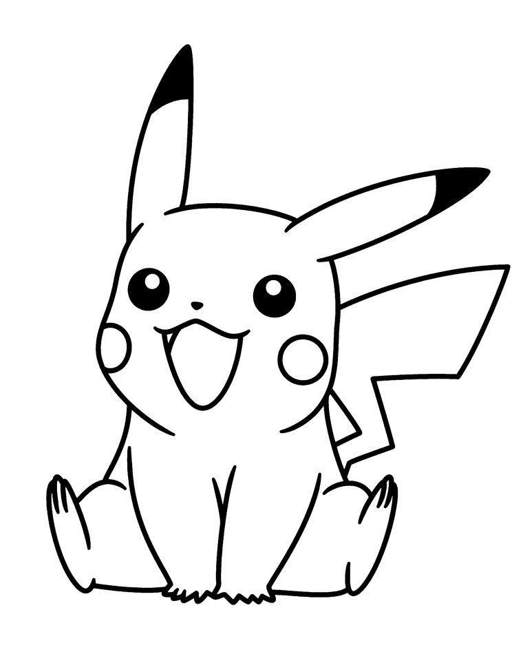Hình tập tô pikachu đẹp