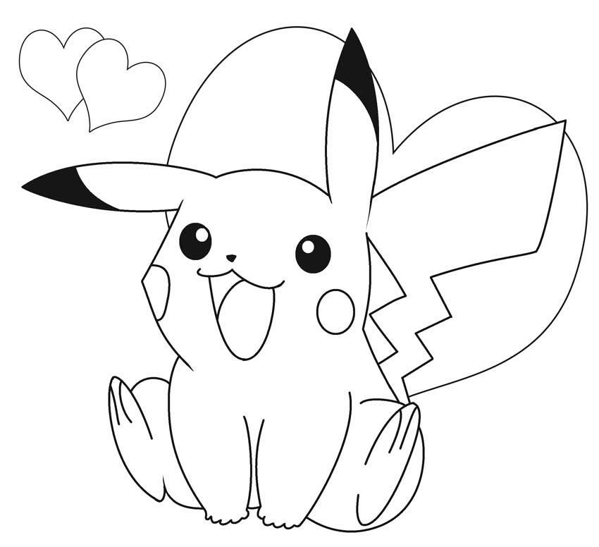 Hình tập tô pikachu