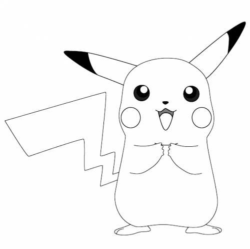 Hình tô màu cho bé pikachu
