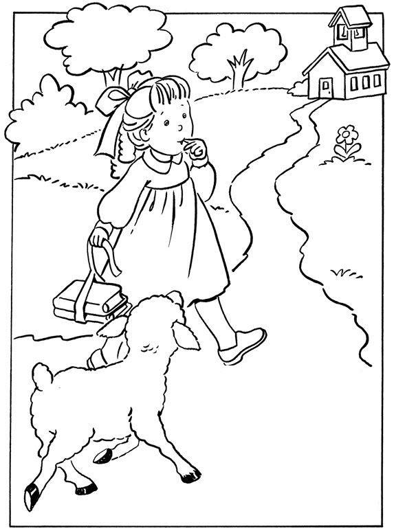 Hình tô màu chủ đề trường mầm non của bé