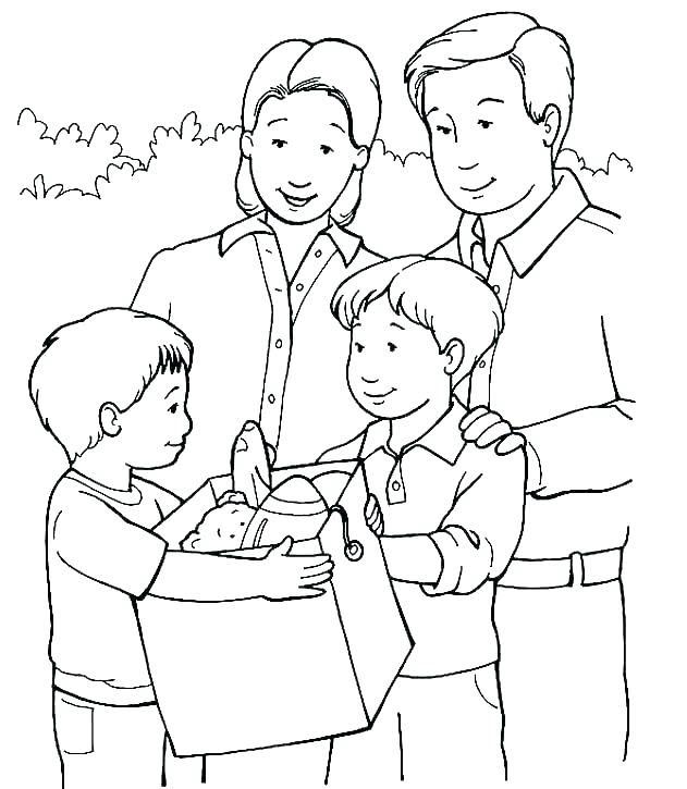 Hình tô màu gia đình