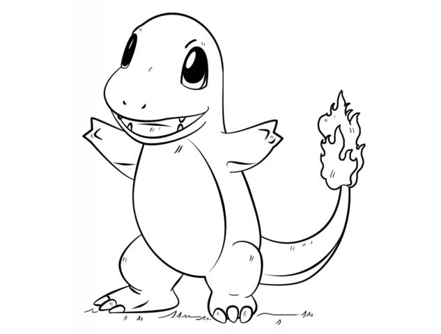 Hình tô màu pokemon cho bé tập tô