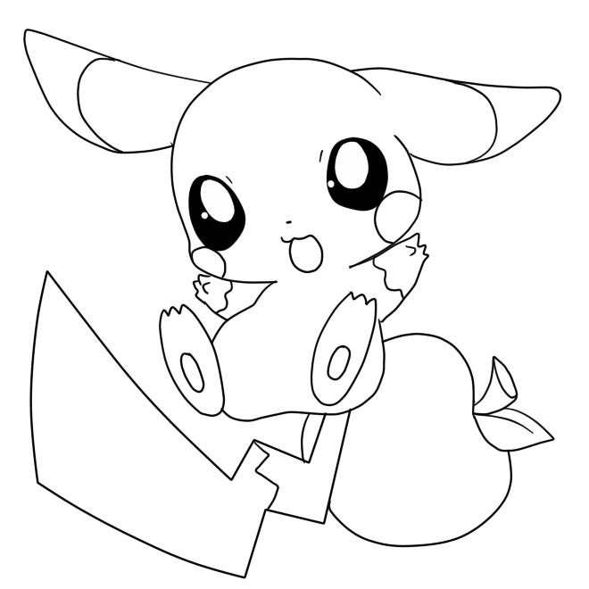 Hình tô màu pokemon đẹp nhất cho bé