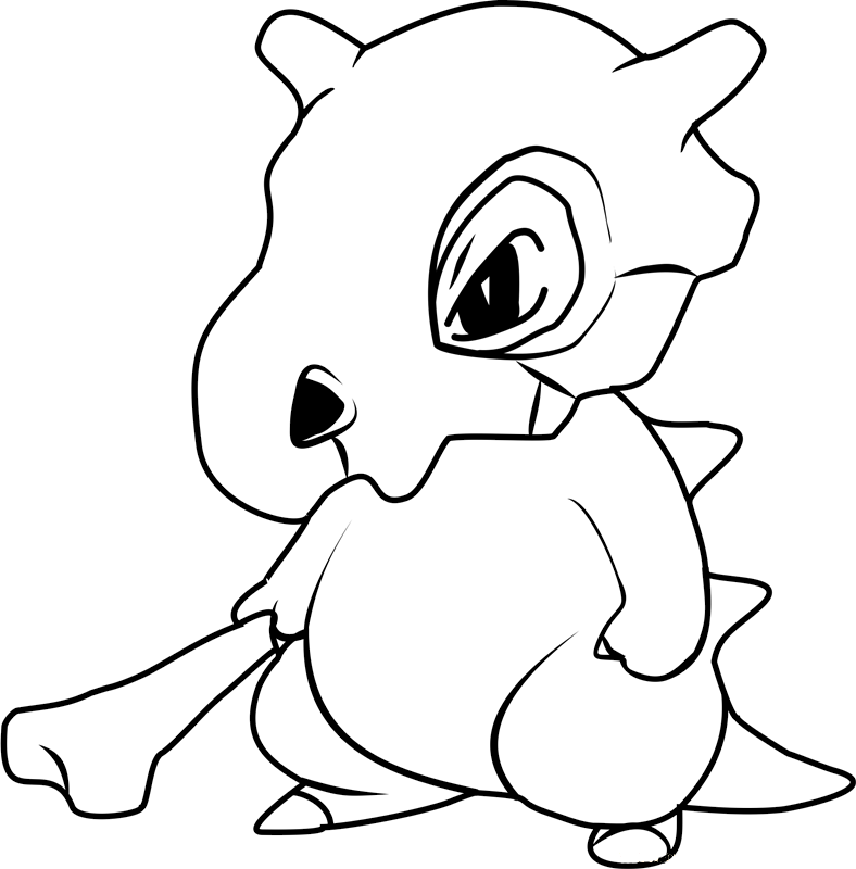 cubone coloring coloring pages