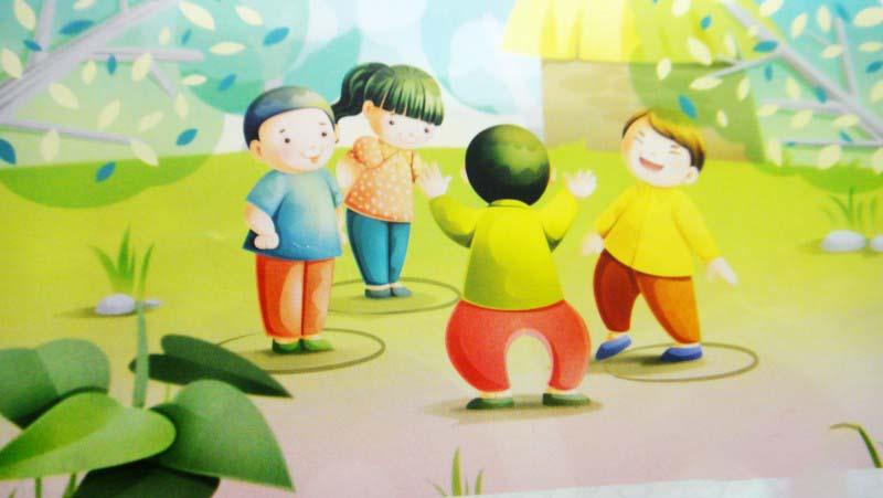 Những bức tranh vẽ trò chơi dân gian đẹp