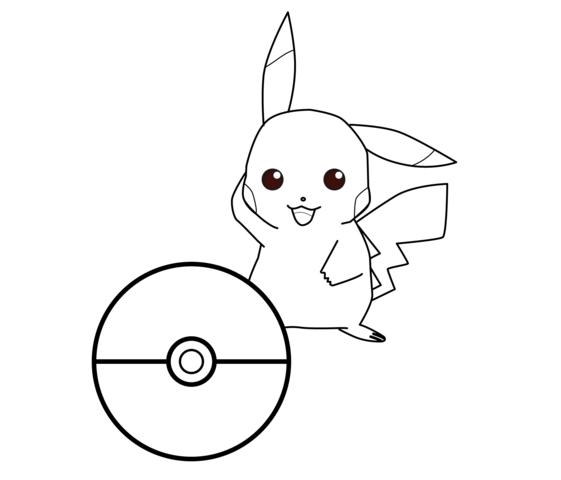 Pikachu đáng yêu cho bé tô màu