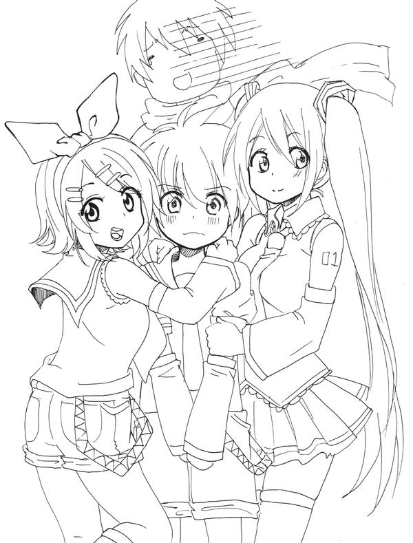 Tập tô màu anime đẹp