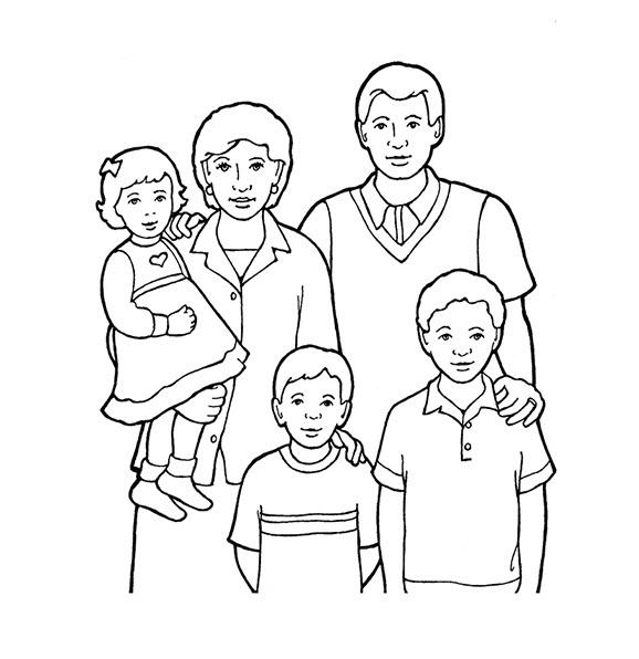 Tập tô màu chân dung gia đình