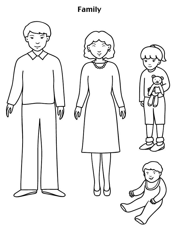 Tập tô màu chủ đề gia đình cho bé