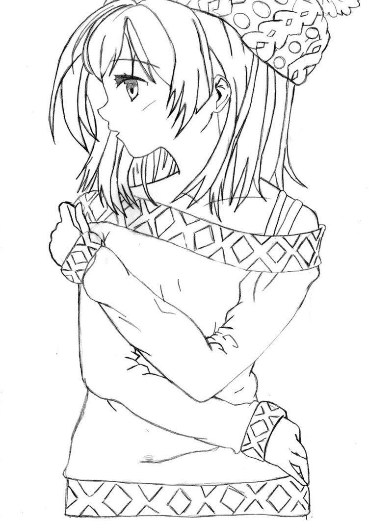 Tập tô màu cô gái anime đẹp