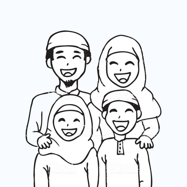 Tập tô màu gia đình hồi giáo