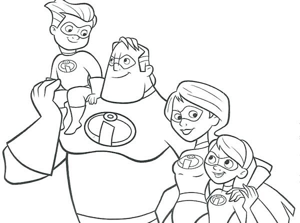 Tập tô màu gia đình siêu nhân
