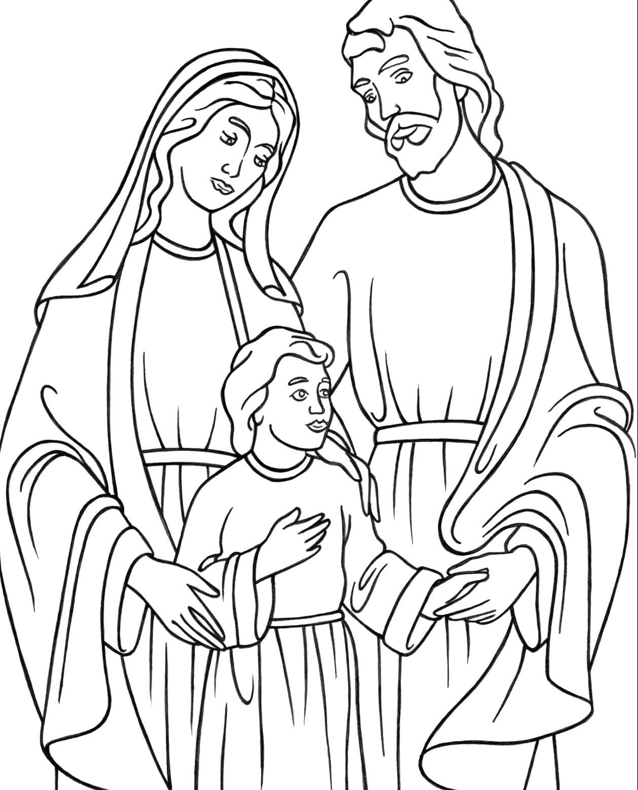 Tập tô màu gia đình thiên chúa