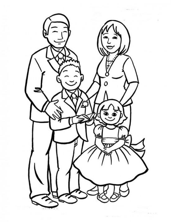 Tập tô màu gia đình vui vẻ