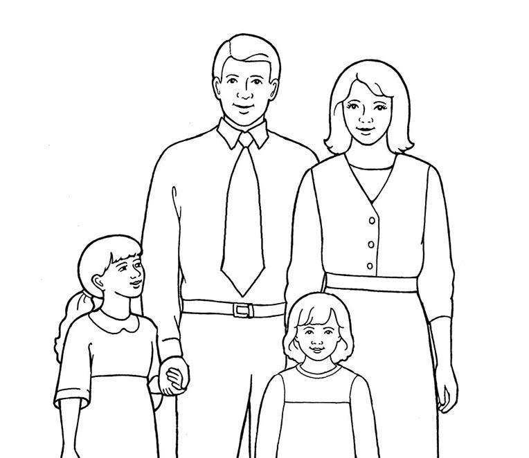 Tập tô màu hình gia đình (2)