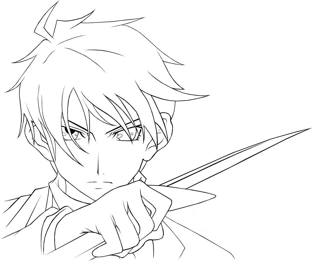 Tô màu anime boy