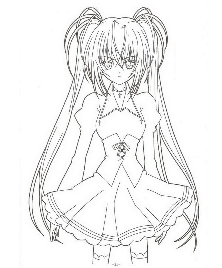 Tô màu anime girl