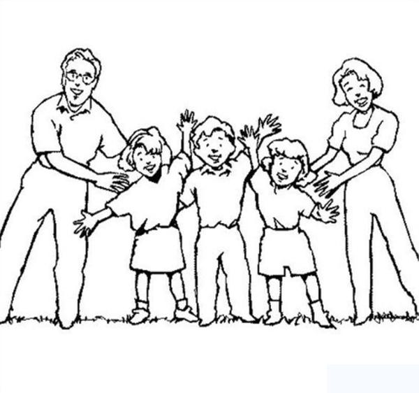 Tô màu bức tranh gia đình