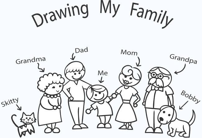 Tô màu gia đình đẹp nhất cho bé tập tô
