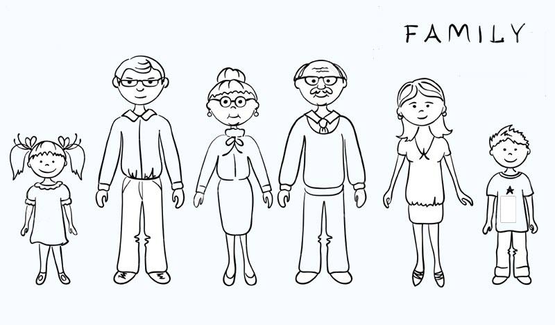 Tô màu hình gia đình