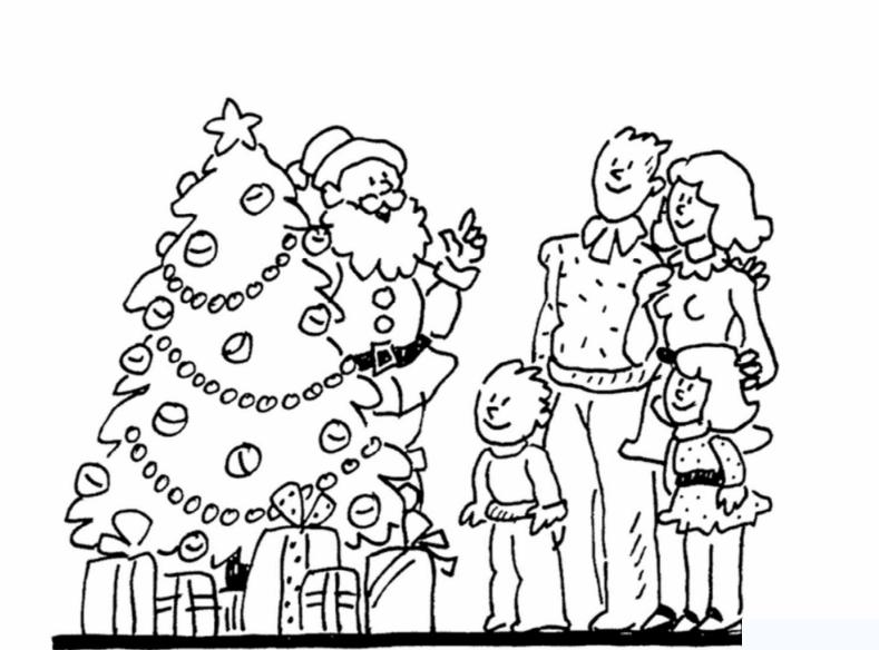 Tô màu tranh gia đình hạnh phúc