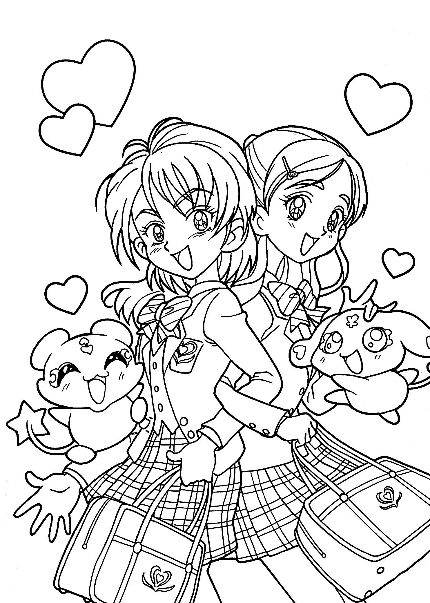 Tranh anime cho bé tô màu (2)