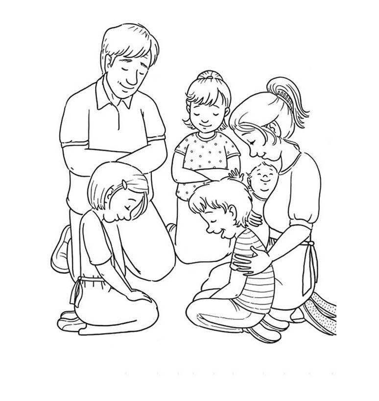 Tranh gia đình cho bé tập tô