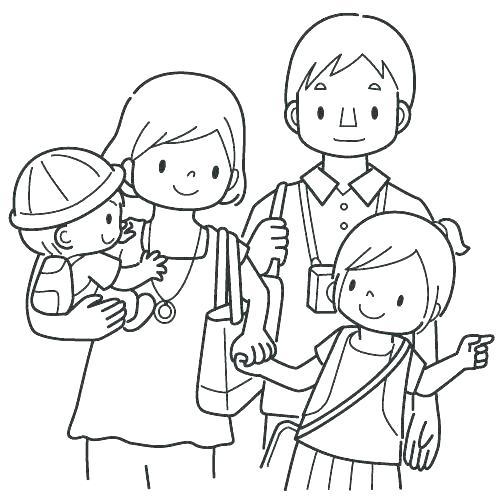 Tranh gia đình đẹp nhất cho bé tập tô