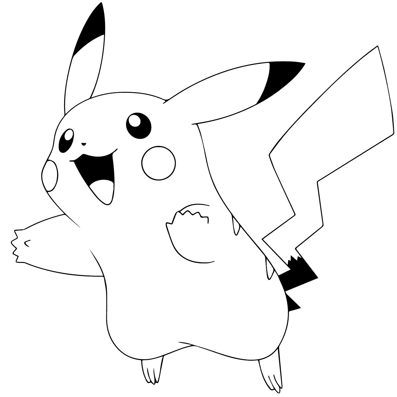 Tranh pokemon cho bé tập tô màu