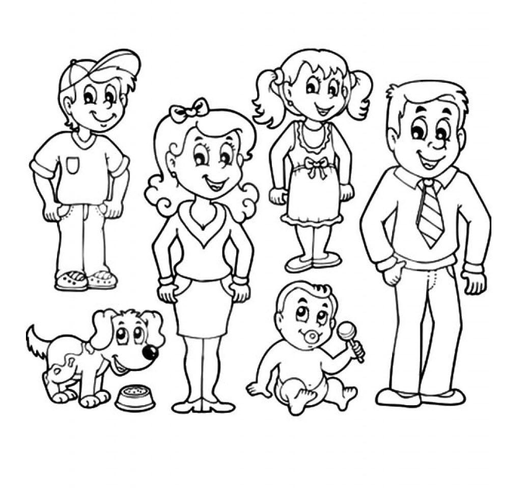 Tranh tập tô gia đình của bé