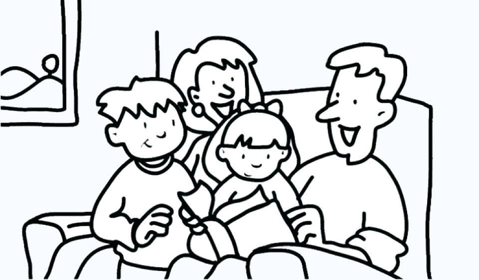 Tranh tập tô hình gia đình đẹp
