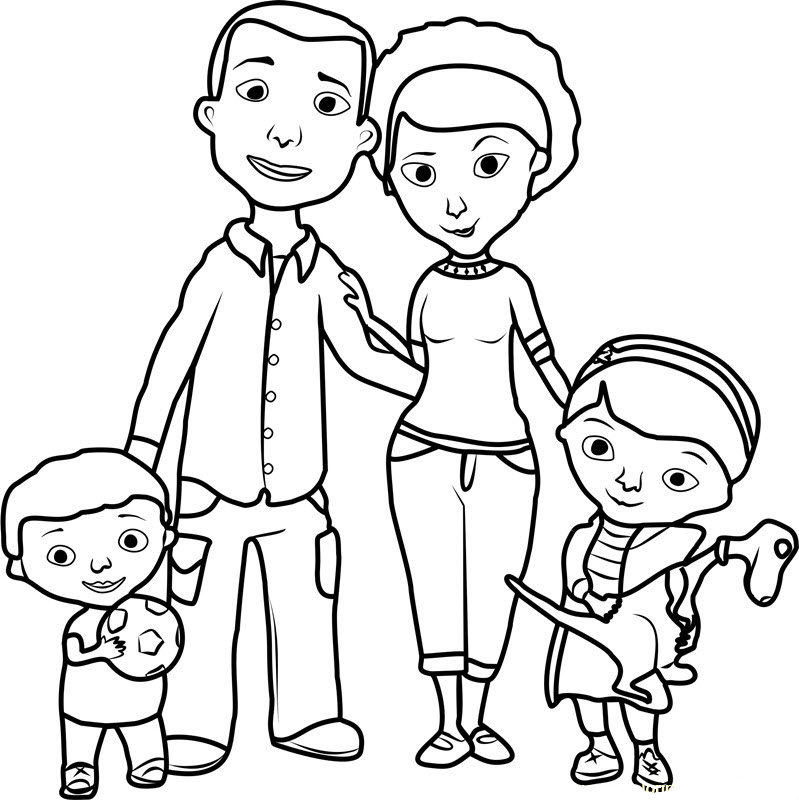 Tranh tập tô màu gia đình