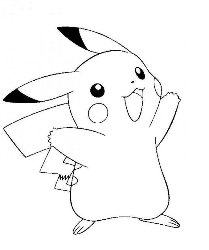 Tranh tập tô màu pikachu cho bé