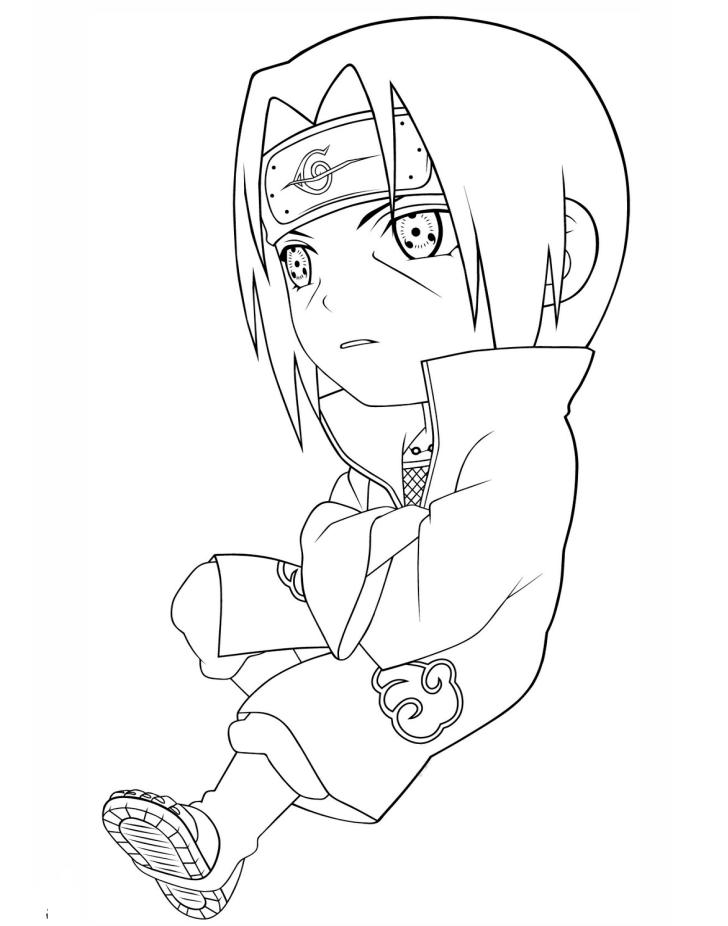 Tranh tô màu anime cho bé trai đẹp