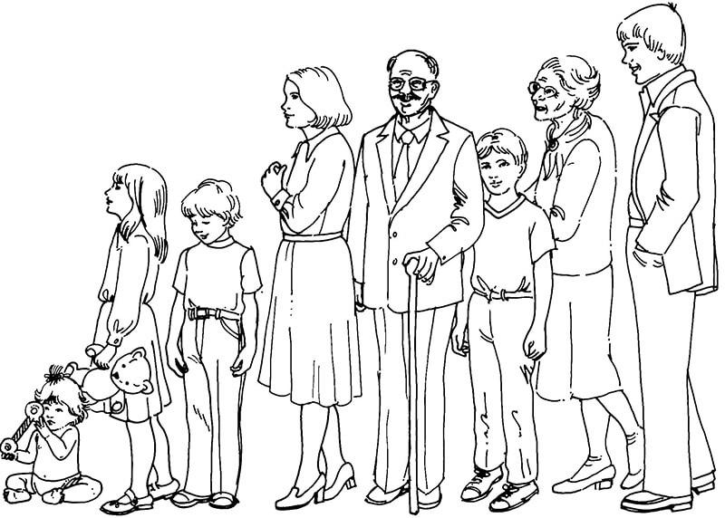 Tranh tô màu gia đình hạnh phúc ấm áp