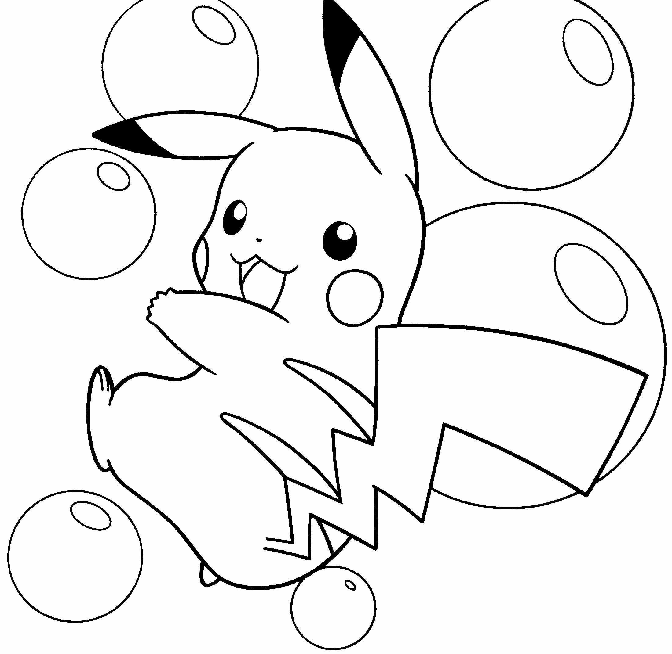 Tranh tô màu pikachu cho bé