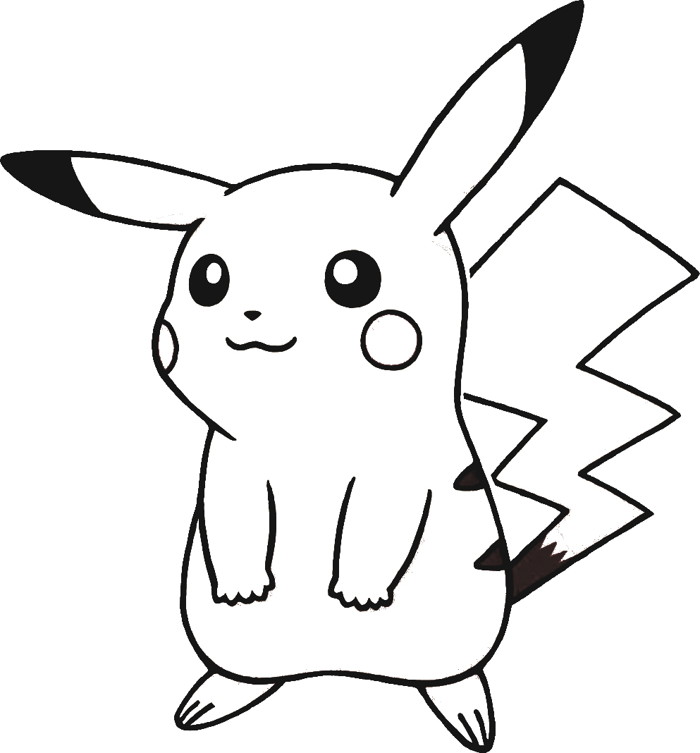 Tranh tô màu pikachu đẹp nhất cho bé